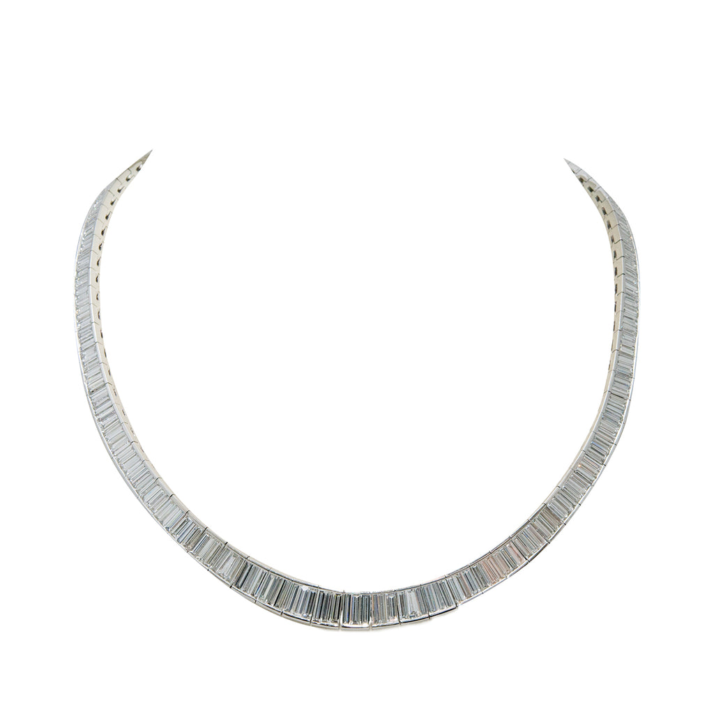 Graduated Baguette Diamond Necklace