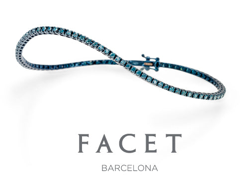 Blue Diamond Tennis Bracelet