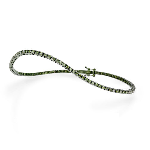 Green Diamond Tennis Bracelet
