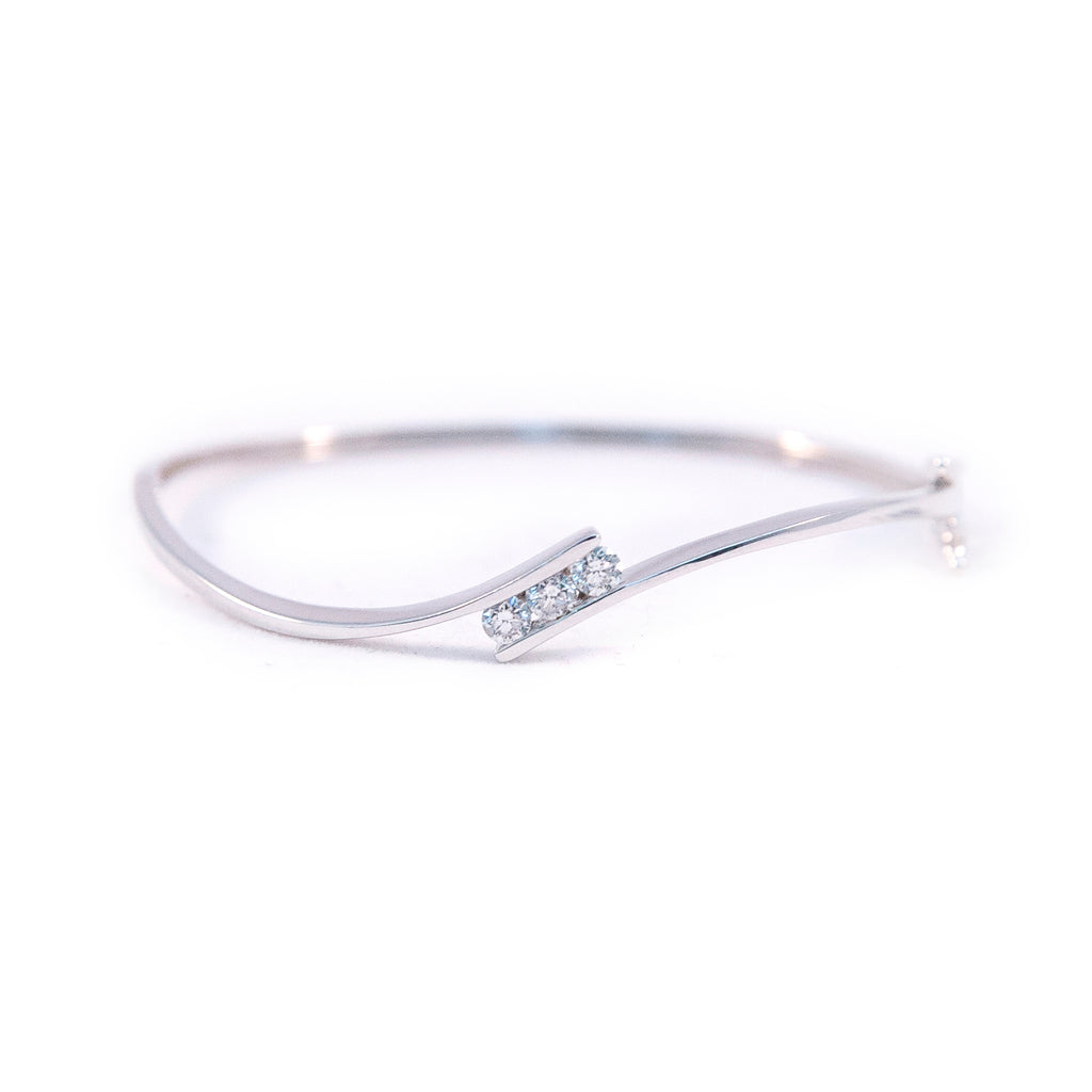 Three Stone Diamond Bangle