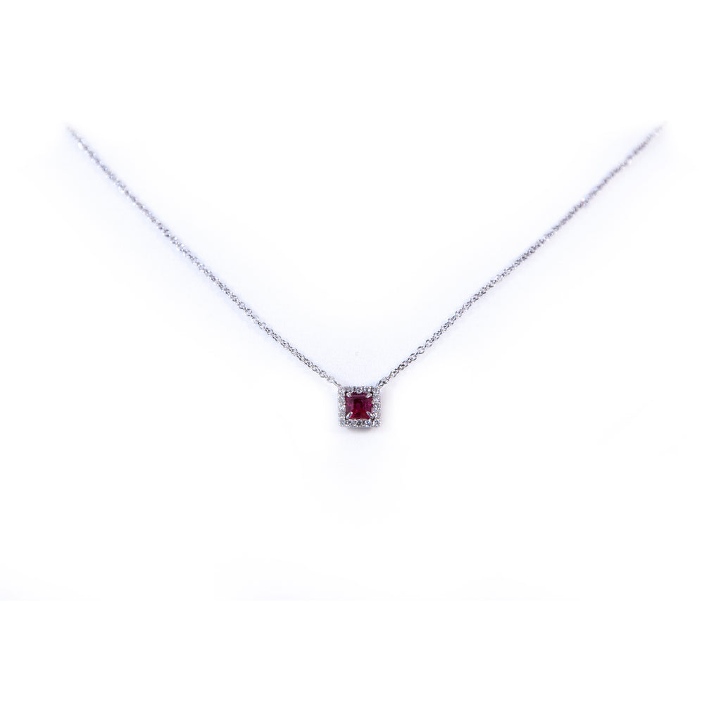 Ruby Square Necklace