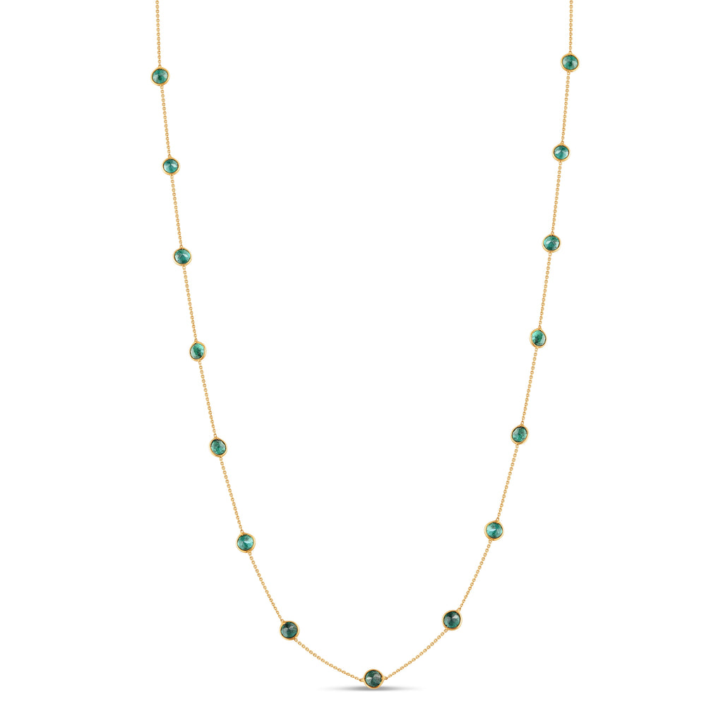 Small Emerald Cabochon Necklace