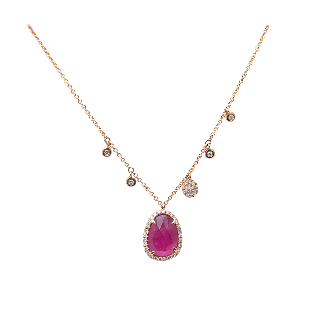 Diamond & Ruby Slice Necklace