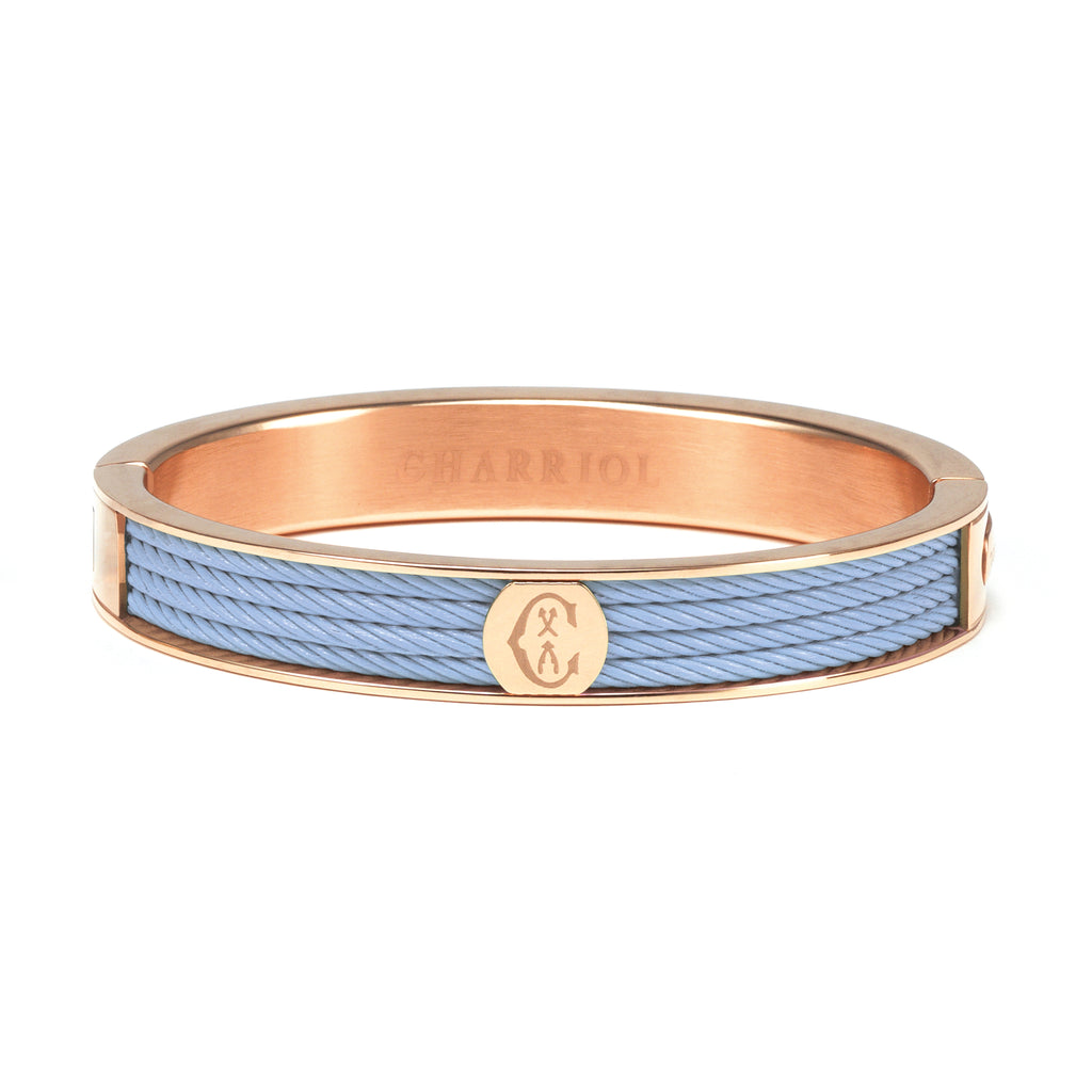 Stainless Steel Baby Blue Bangle