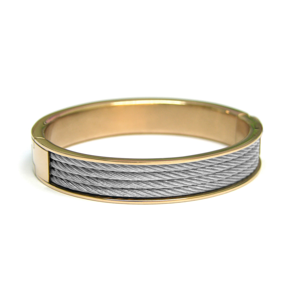 Two Tone Stainless Steel Bangle