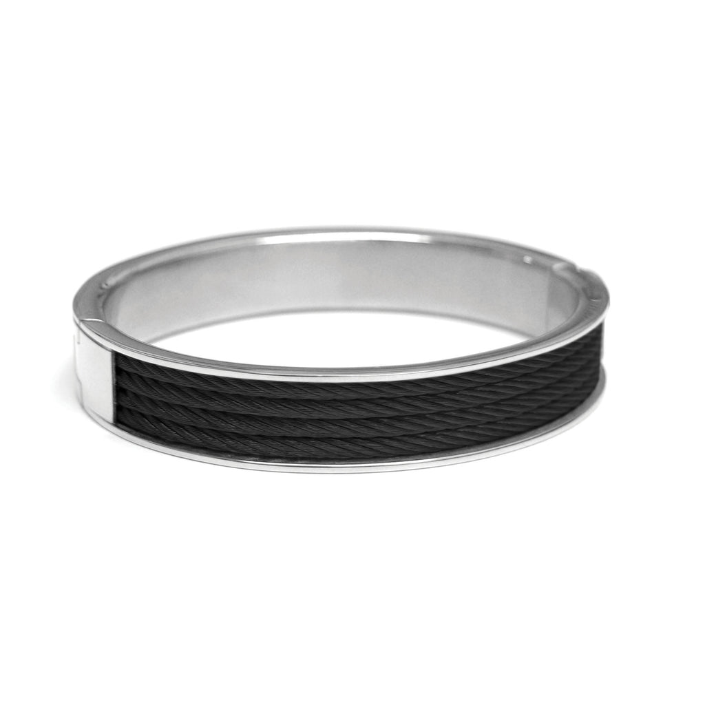 Stainless Steel Black Wire Bangle