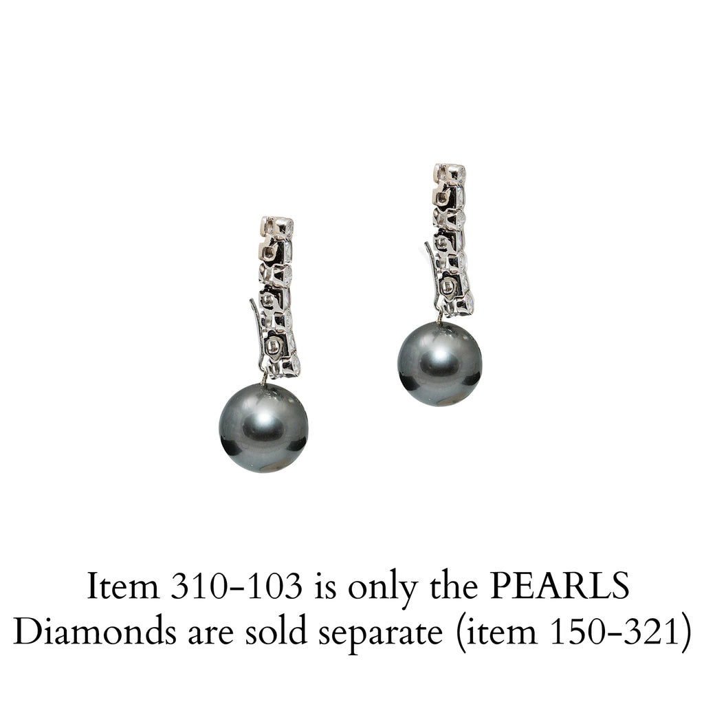 Pearls for Black Tahitian Diamond Drop Earrings