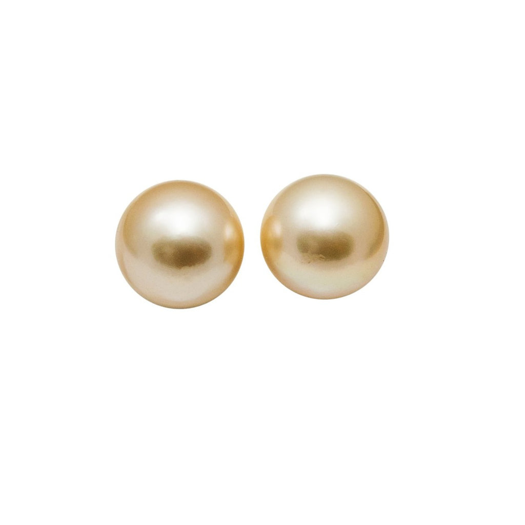 Cultured Golden Pearl Studs