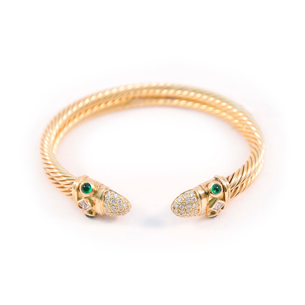 Cable Gold Bangle