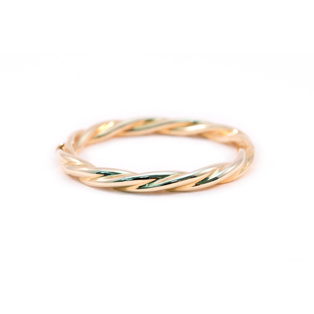 Yellow Gold Twisted Bangle