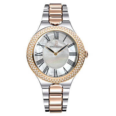 Bertolucci 18k rose gold & diamond watch