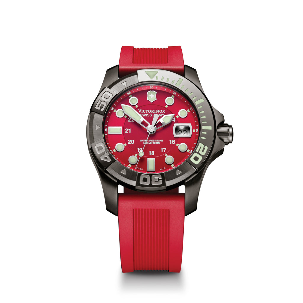 Dive Master 500 Red Rubber Band Watch