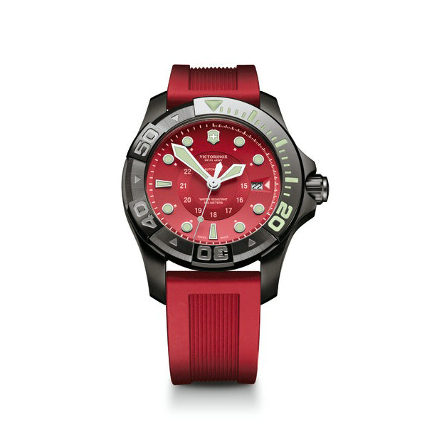 Dive Master Red Rubber band watch