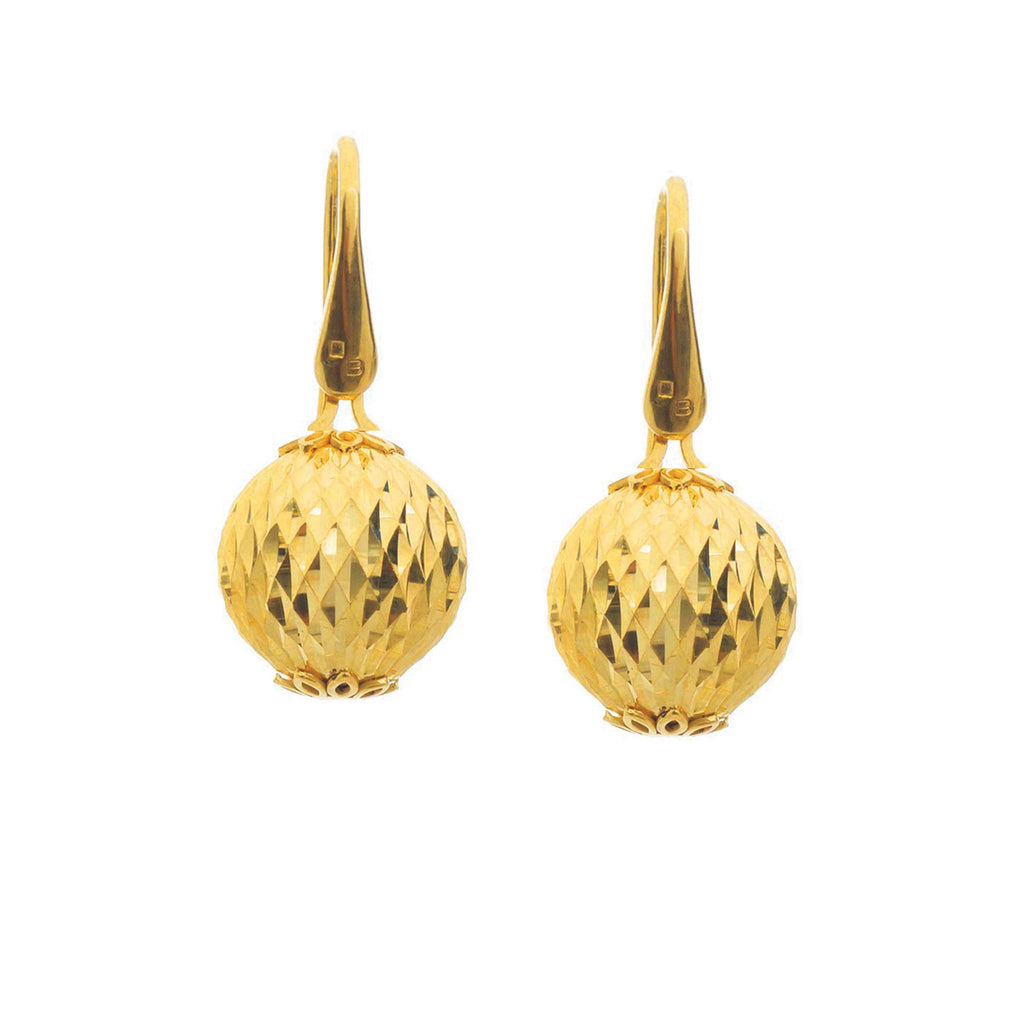 Goldplated bead earrings