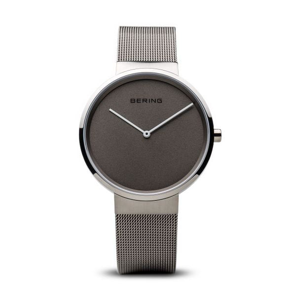Classic brushed silver watch