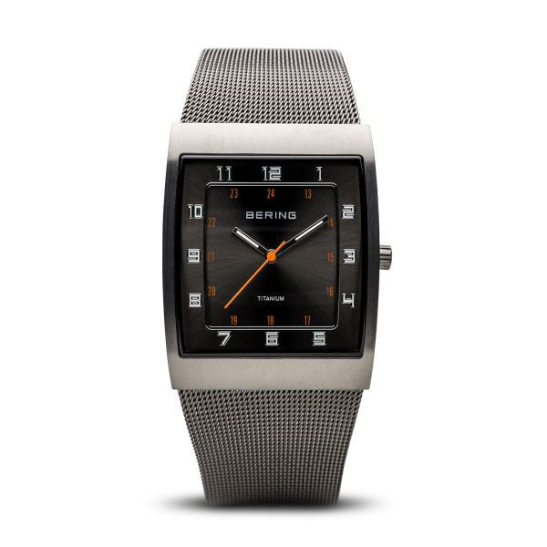 Titanium brushed grey watch