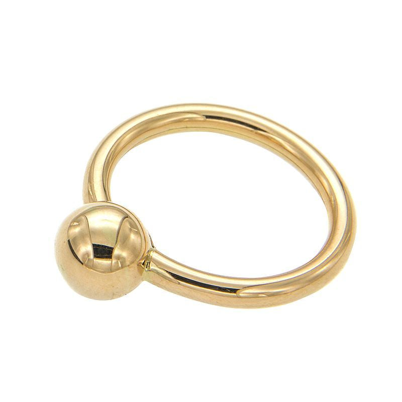 From our Stella Milano Collection 18k Italian  yellow gold Polished finish Size 6 (sizeable) 2.60 mm (wide) x 7.80 mm (sphere)