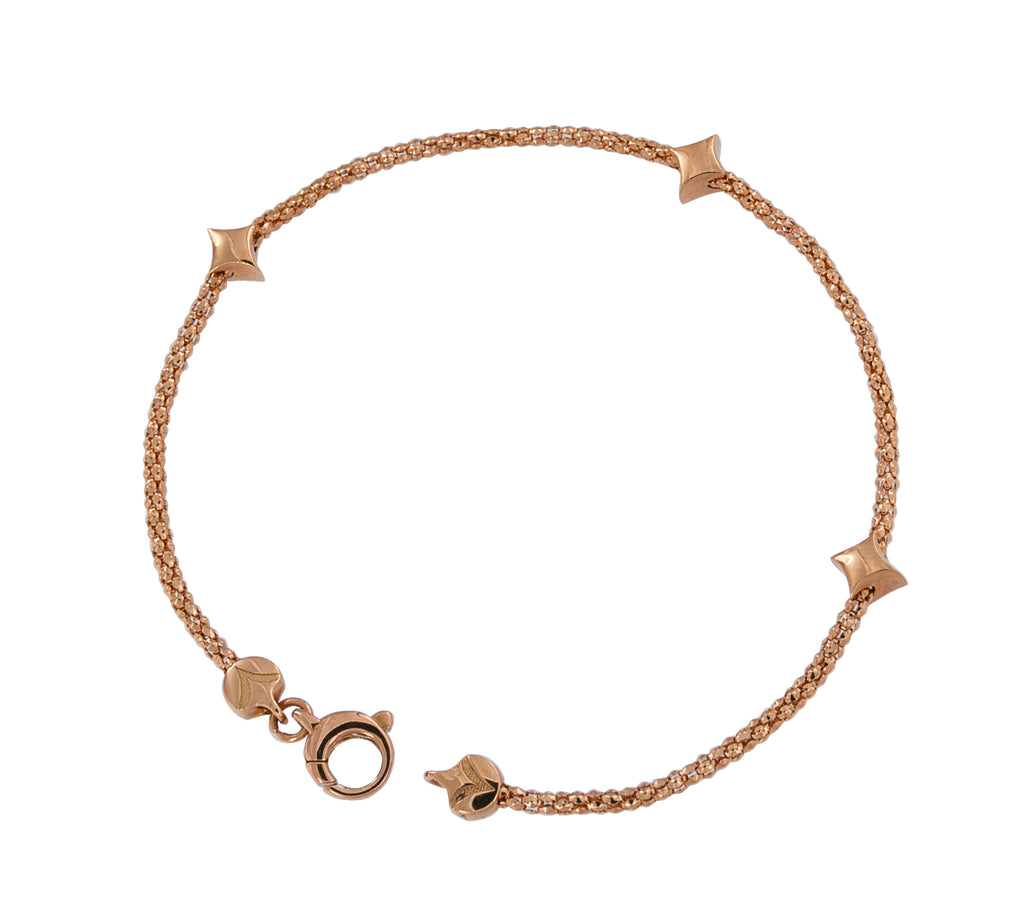 From our Stella Millano Italian Jewelry  18k Italian rose Gold  One Size Fits All  Wish collection  3 solid stars  6mm (each)  Secure lobster clasp