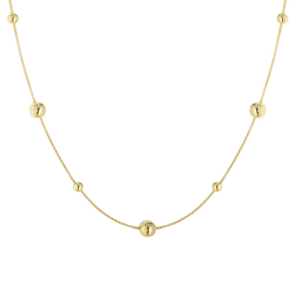 Sphere yellow gold necklace