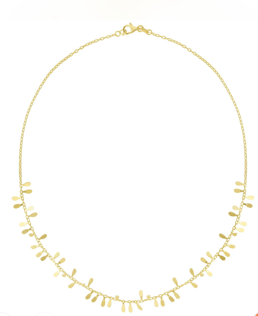 14k Yellow Gold Sequin Necklace