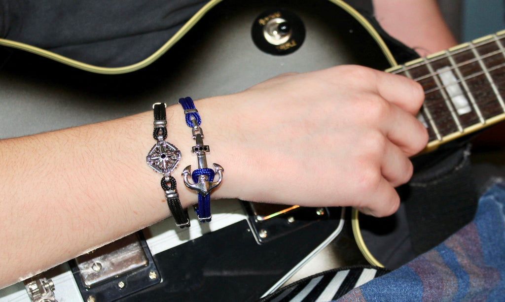Zancan Black Compass Rose Bracelet