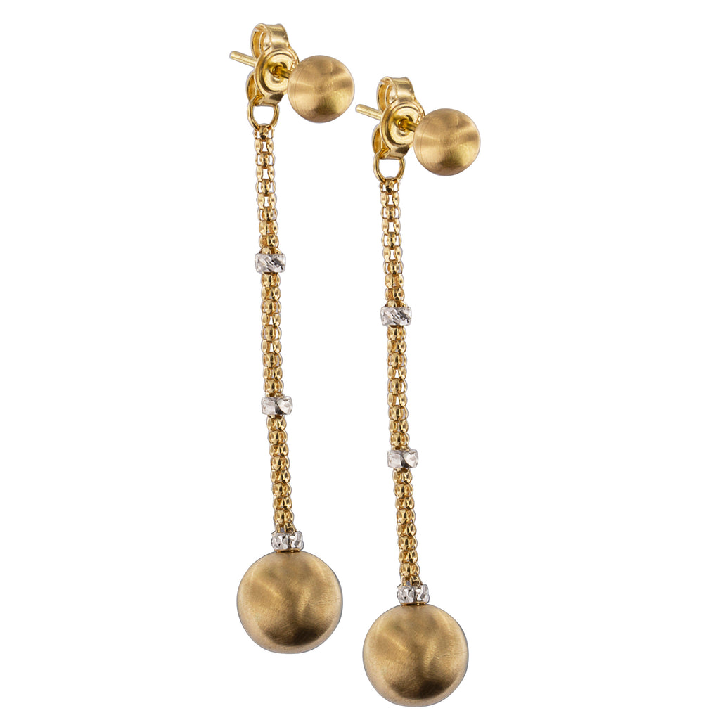 Gold Earrings with Micro Studs