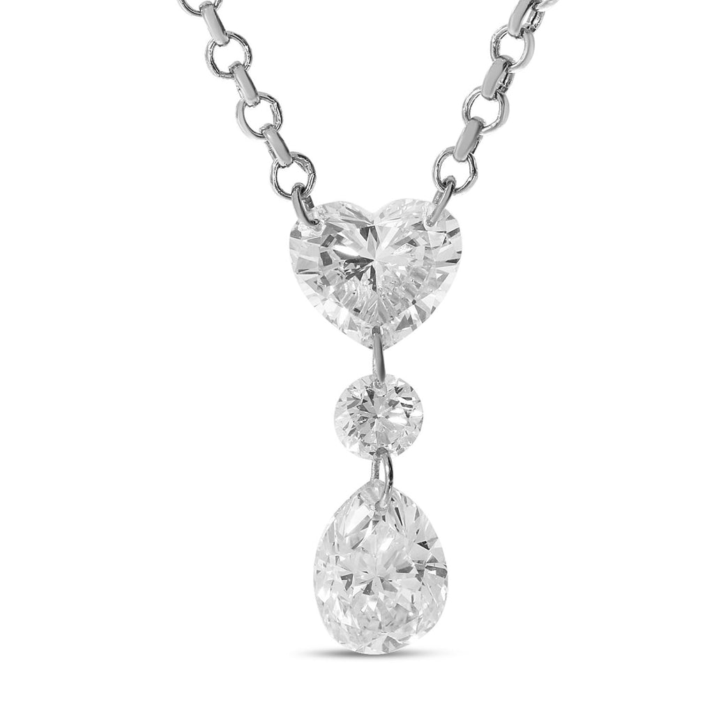 Fancy Drop Diamond Necklace