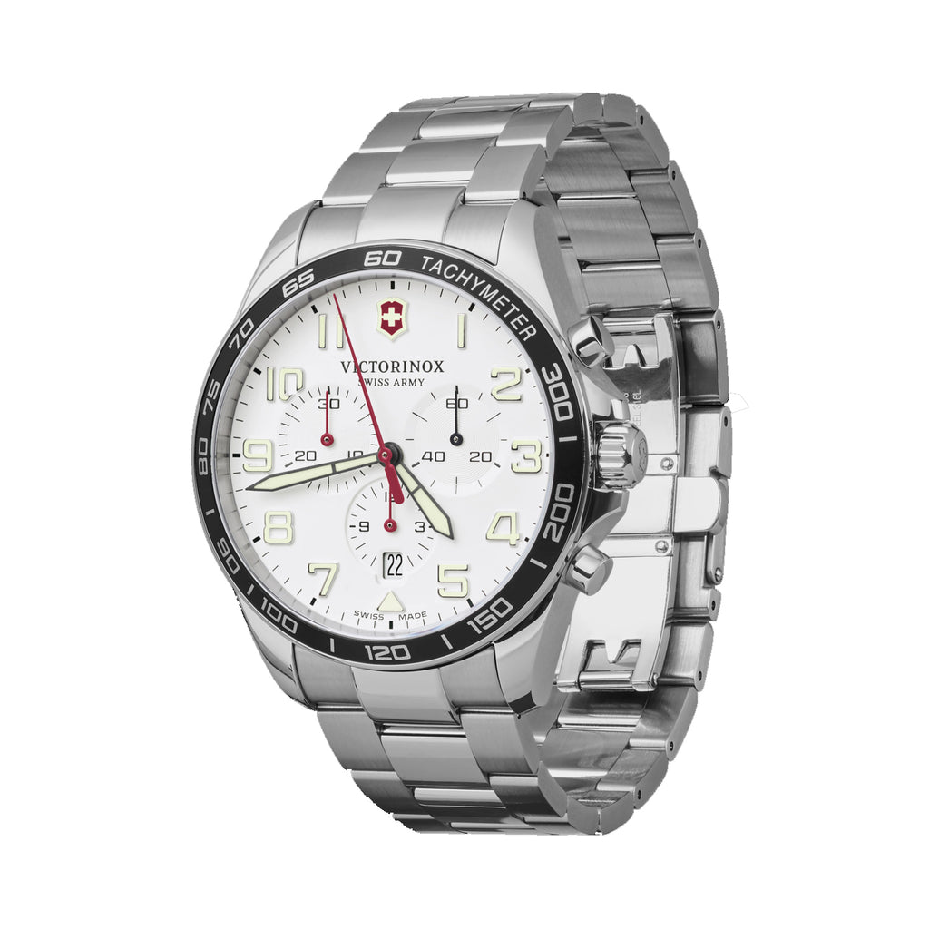 FieldFroce Chrono White Dial Watch