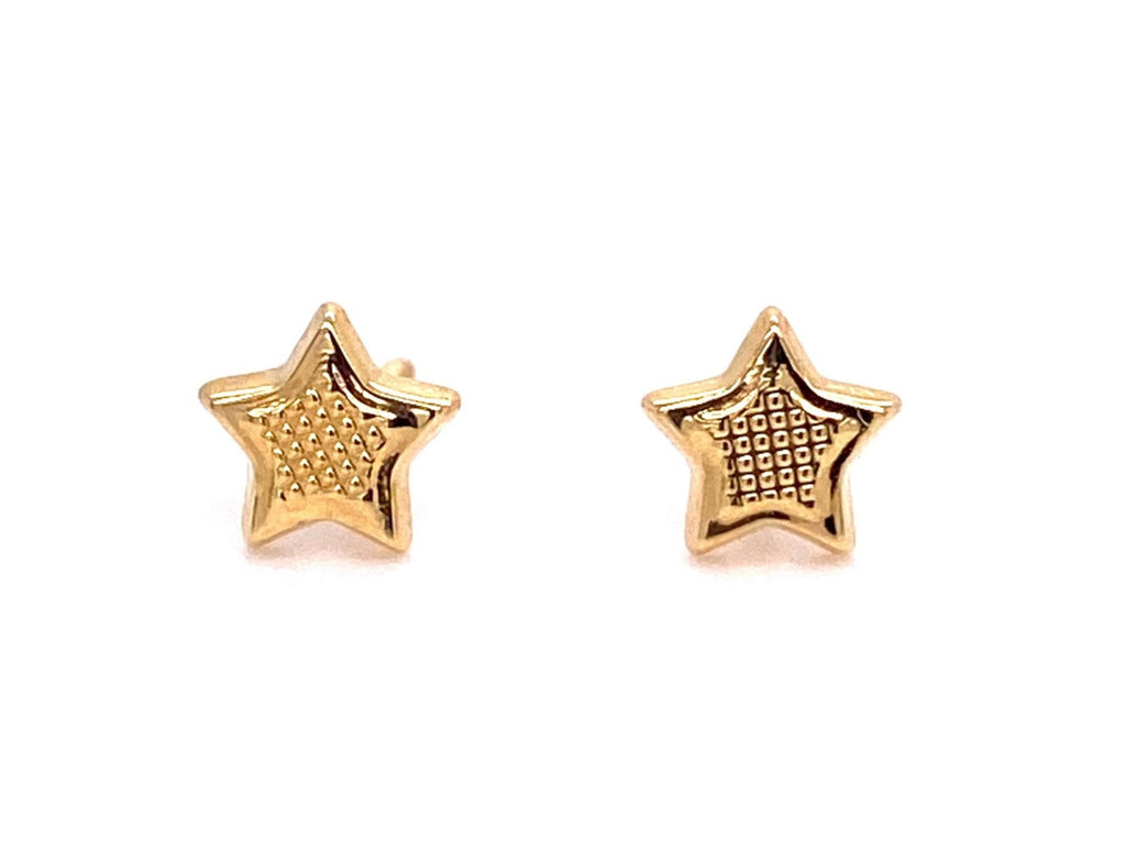 Beautiful baby earrings  Secure baby screw backs  18k yellow gold  5 mm