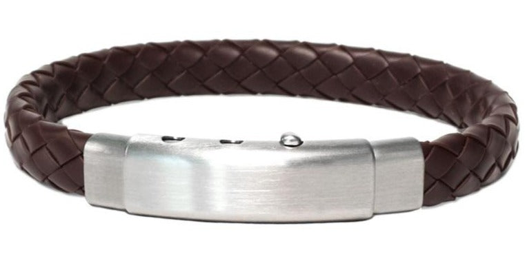 "This bracelet creates an elegant look  Rubber bracelet  Stainless steel adjustable clasp  8"" long"