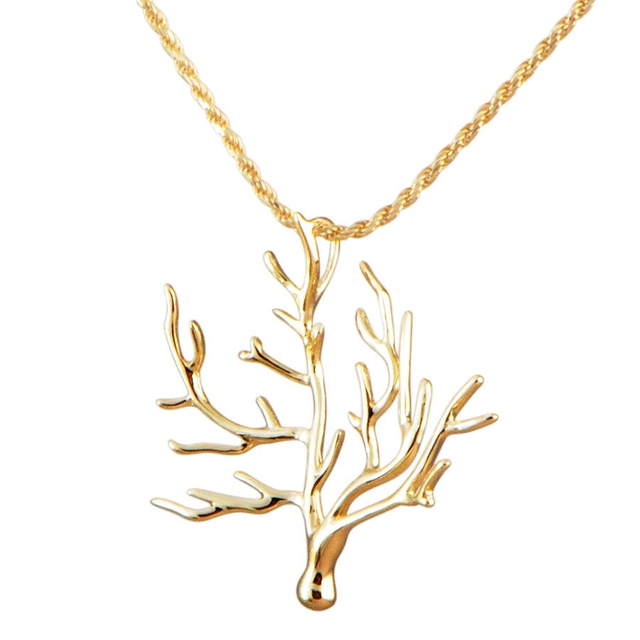 Beautiful coral pendant.  14k yellow gold.  Secure bail  22.00 mm length.  1.1 mm gold chain available (optional, not included in price) $199.00