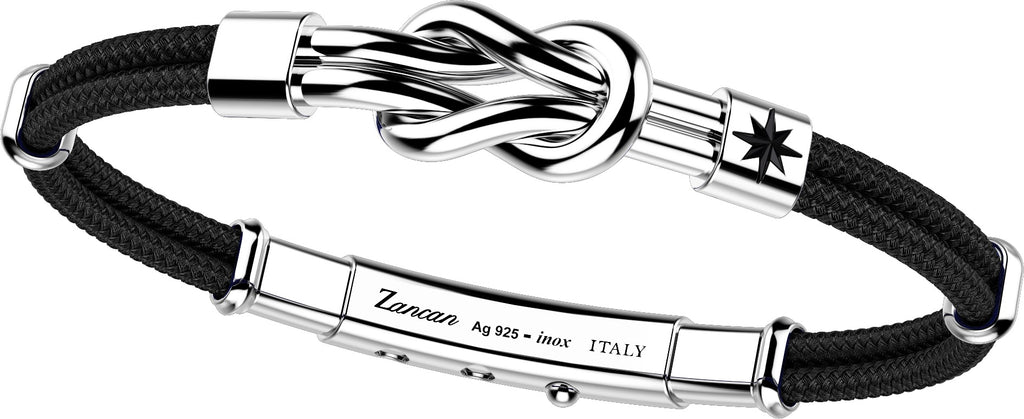 "Italian made sterling silver bracelet  Rhodium coated  8"" long  Elegant  1"" adjustable slide lock"