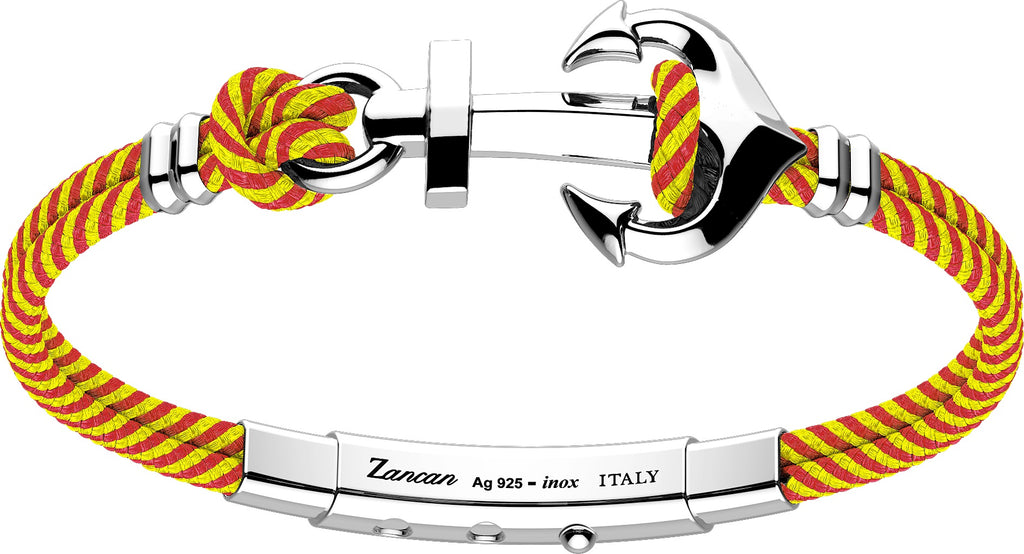 "Italian made sterling silver bracelet  Rhodium coated  8"" long  Two row yellow & red pattern bracelet Adjustable slide lock"