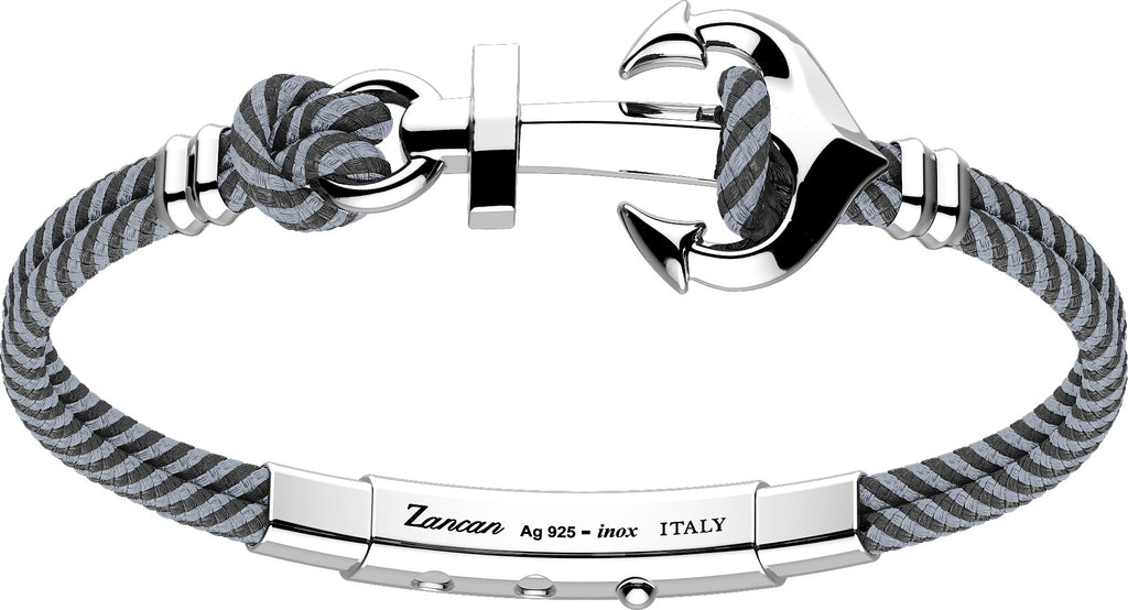 Zancan Sterling Silver Anchor Pattern Bracelet