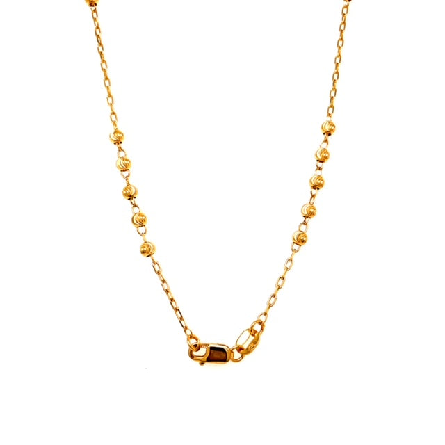 14k Yellow Gold Rosary Necklace