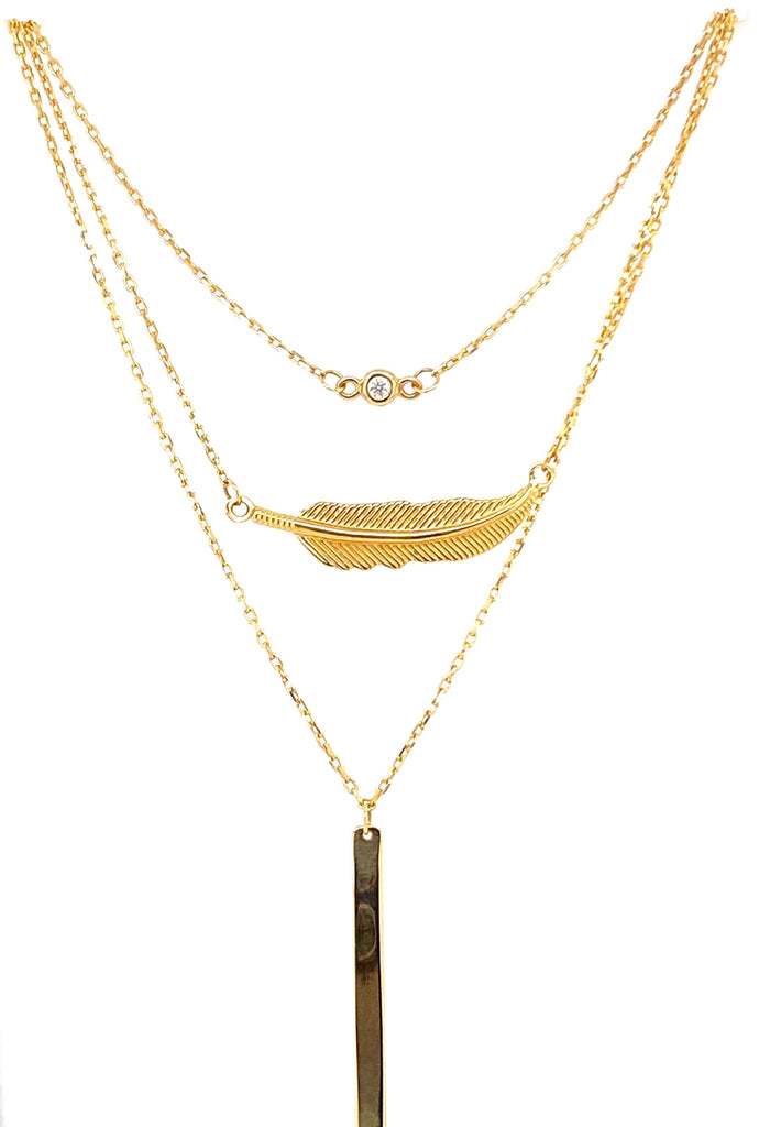 Italian gold layered necklace