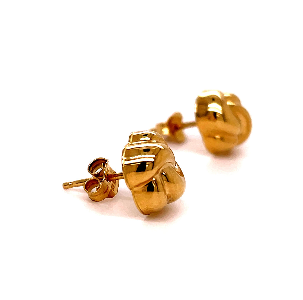 14k Yellow Gold Half Love Knot  Earrings