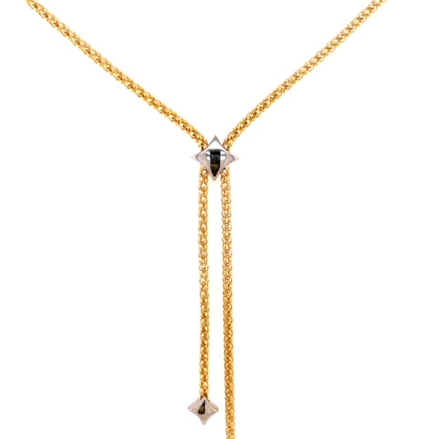 Star Two Tone 18k Gold Necklace
