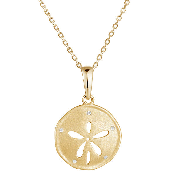 Diamond Sand dollar Pendant Necklace