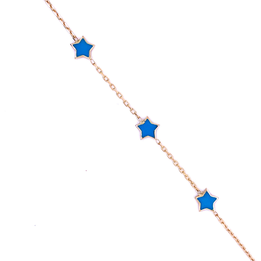 Three Star Charm Bracelet