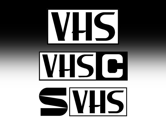 VHS, VHS-C, S-VHS Video Transfer from $65