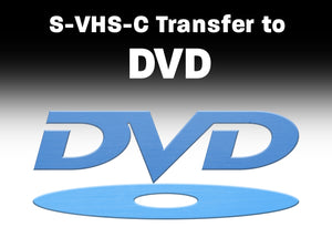 S-VHS, VHS, VHS-C to DVD