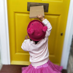 Posting the creative projects through the letter box