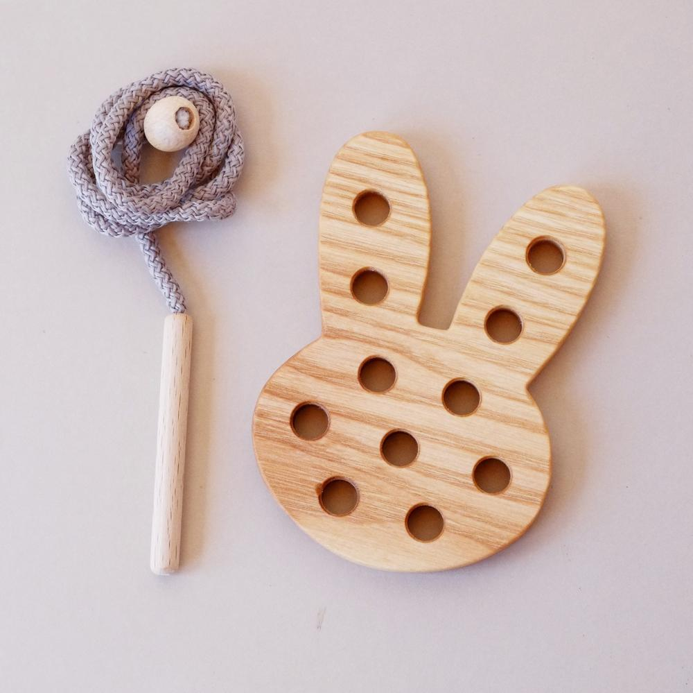 Wooden Lacing Toy - Bunny
