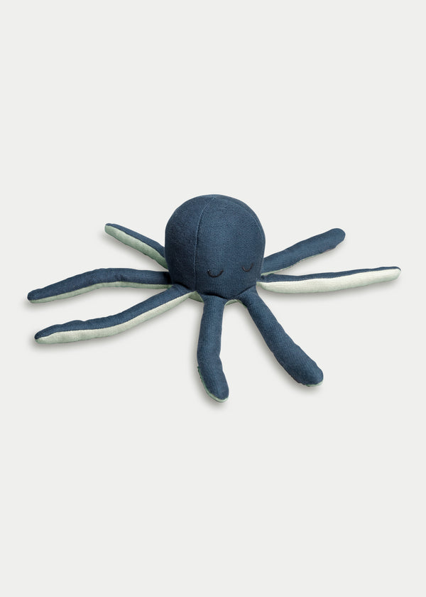 Rattle Soft Octopus - Blue Spruce