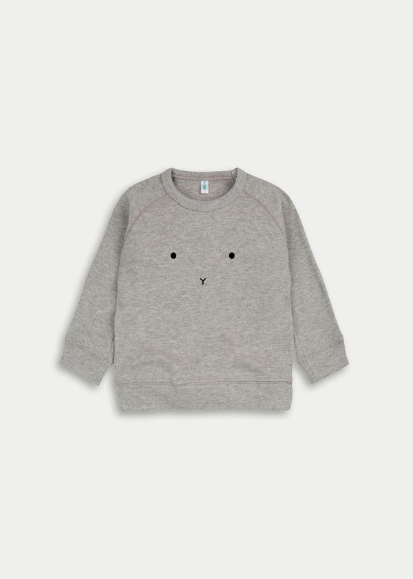 Organic cotton bunny jumper - Grey