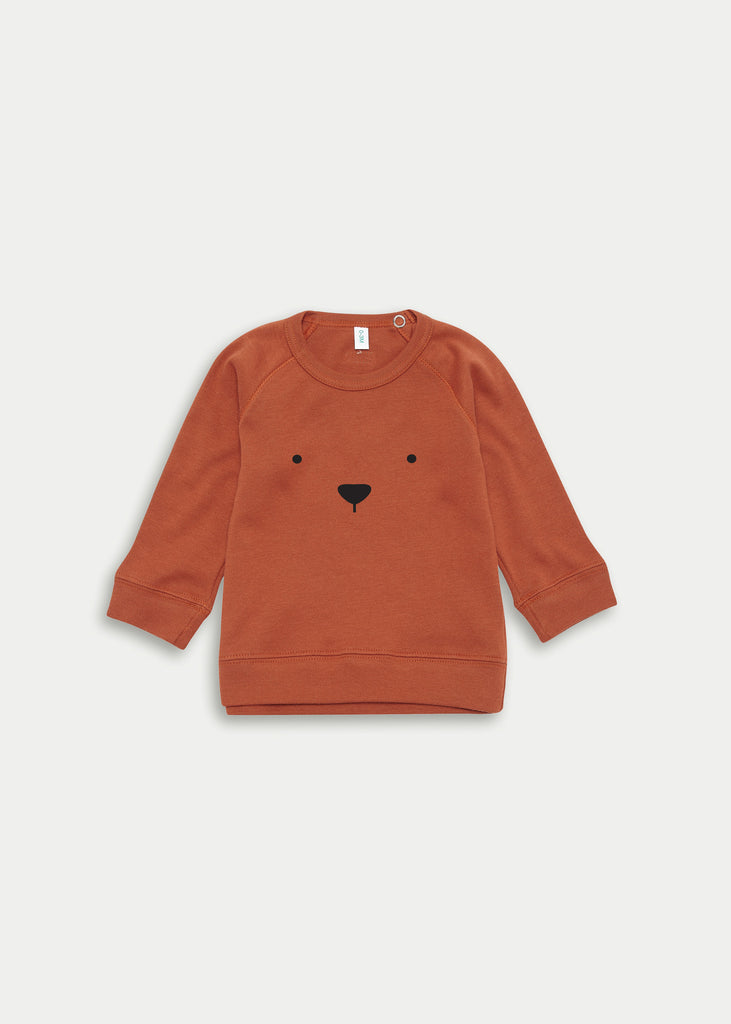 Organic cotton bear jumper - Rust