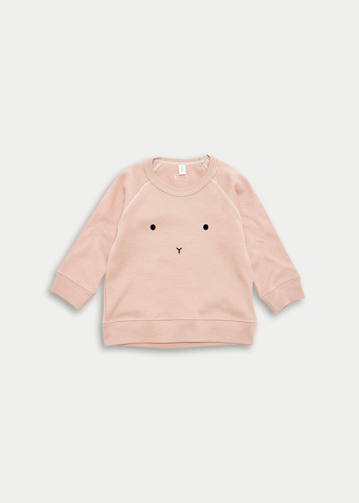Organic cotton bunny jumper - Clay