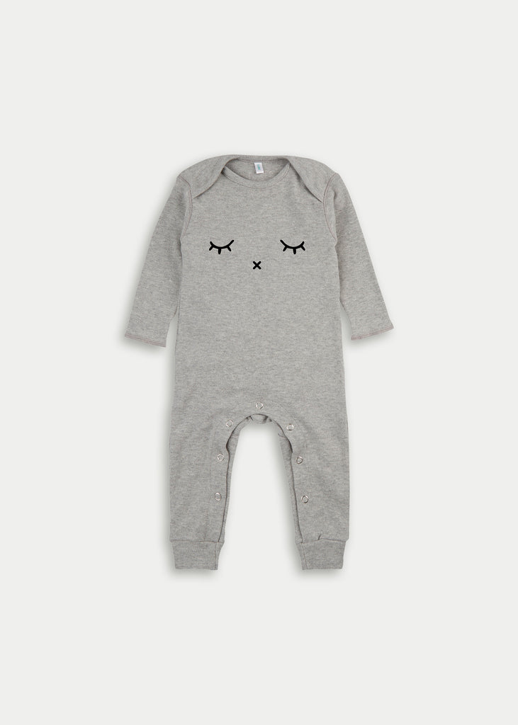 Organic cotton playsuit SLEEPY - Grey