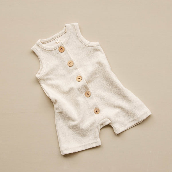 Organic Cotton Romper - Oat